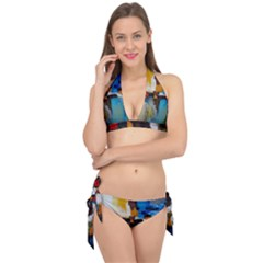 Abstract Tie It Up Bikini Set