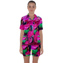 Flamingo   Child Of Dawn 8 Satin Short Sleeve Pyjamas Set