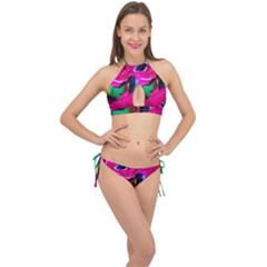 Flamingo   Child Of Dawn 8 Cross Front Halter Bikini Set