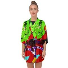 Untitled Island 4 Half Sleeve Chiffon Kimono by bestdesignintheworld