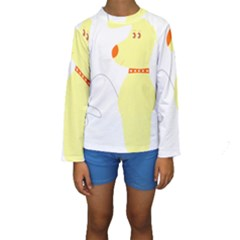 Mutt Dog Animal Domestic Vector Kids  Long Sleeve Swimwear