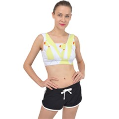 Mutt Dog Animal Domestic Vector V Back Sports Bra