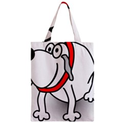 Dog Animal Pet Grin Sit Happy Zipper Classic Tote Bag