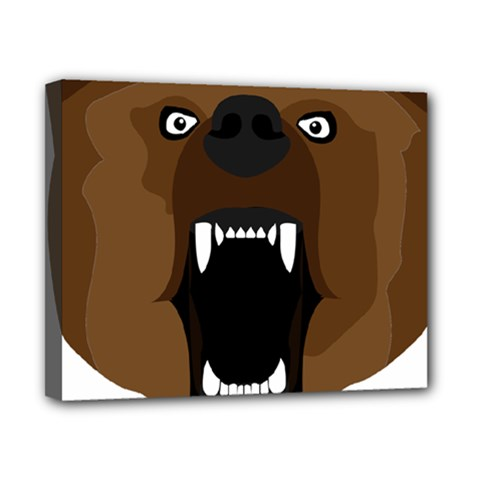 Bear Brown Set Paw Isolated Icon Canvas 10  X 8