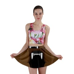 Bear Brown Set Paw Isolated Icon Mini Skirt