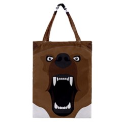 Bear Brown Set Paw Isolated Icon Classic Tote Bag