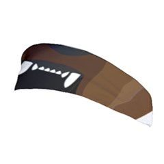 Bear Brown Set Paw Isolated Icon Stretchable Headband