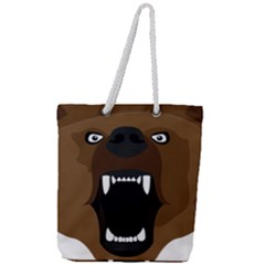 Bear Brown Set Paw Isolated Icon Full Print Rope Handle Tote (large) by Nexatart