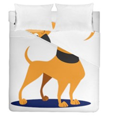 Stub Illustration Cute Animal Dog Duvet Cover Double Side (queen Size)