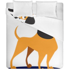 Stub Illustration Cute Animal Dog Duvet Cover Double Side (california King Size) by Nexatart