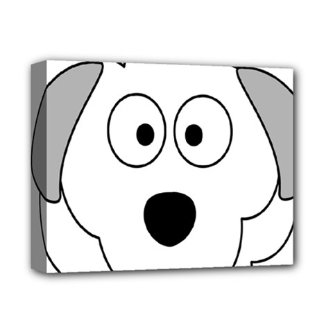 Animal Cartoon Colour Dog Deluxe Canvas 14  X 11  by Nexatart