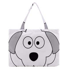 Animal Cartoon Colour Dog Zipper Medium Tote Bag