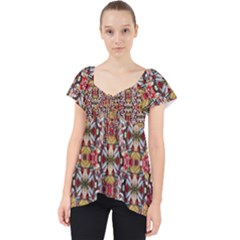 Rose Buds And Floral Decorative Lace Front Dolly Top