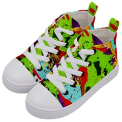 Untitled Island 3 Kid s Mid Top Canvas Sneakers by bestdesignintheworld