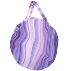 Marbled Ultra Violet Giant Round Zipper Tote by 8fugoso