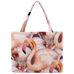 Pink Flamingos Flock Mini Tote Bag by CrypticFragmentsColors
