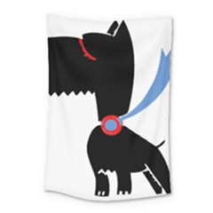 Dog Scottish Terrier Scottie Small Tapestry by Nexatart