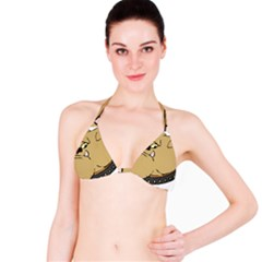 Bulldog Dog Head Canine Pet Bikini Top