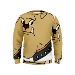 Bulldog Dog Head Canine Pet Kids  Sweatshirt