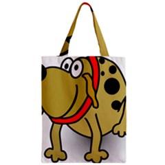 Dog Brown Spots Black Cartoon Zipper Classic Tote Bag