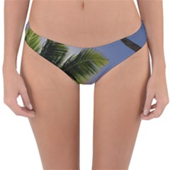 Palm Trees Tropical Beach Scenes Coastal   Reversible Hipster Bikini Bottoms