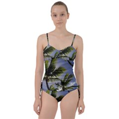 Palm Trees Tropical Beach Scenes Coastal   Sweetheart Tankini Set