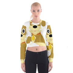 Dog Doggie Bone Dog Collar Cub Cropped Sweatshirt