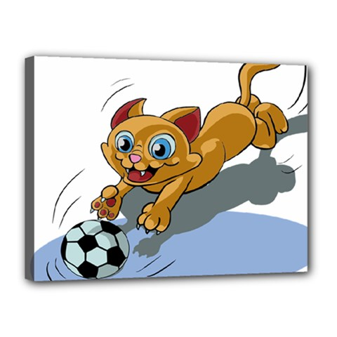 Cat Ball Play Funny Game Playing Canvas 16  X 12