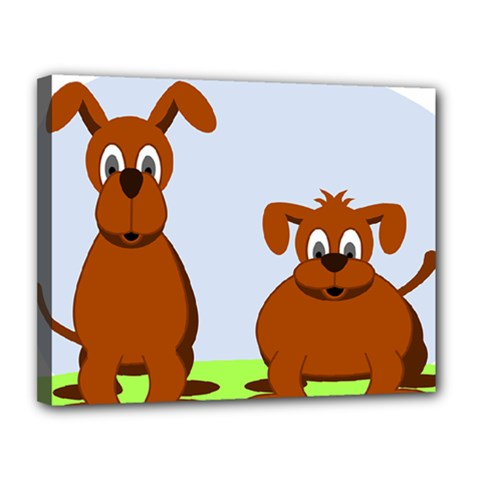 Animals Dogs Mutts Dog Pets Canvas 14  X 11