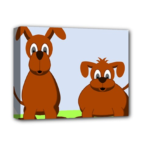 Animals Dogs Mutts Dog Pets Deluxe Canvas 14  X 11