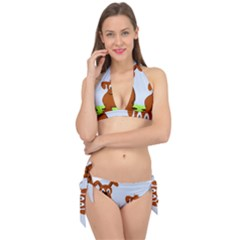 Animals Dogs Mutts Dog Pets Tie It Up Bikini Set