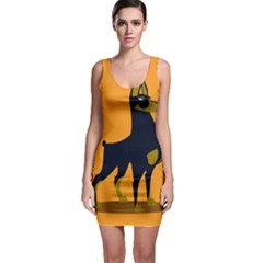 Illustration Silhouette Art Mammals Bodycon Dress