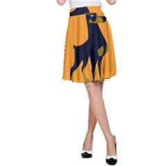 Illustration Silhouette Art Mammals A Line Skirt