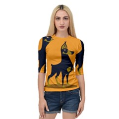 Illustration Silhouette Art Mammals Quarter Sleeve Raglan Tee