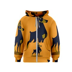 Illustration Silhouette Art Mammals Kids  Zipper Hoodie