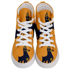 Illustration Silhouette Art Mammals Women s Hi Top Skate Sneakers