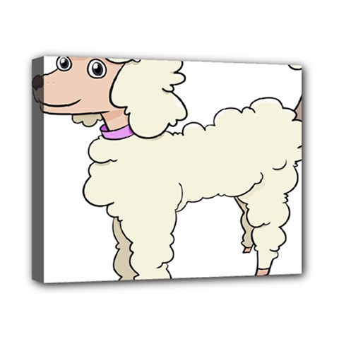Poodle Dog Breed Cute Adorable Canvas 10  X 8