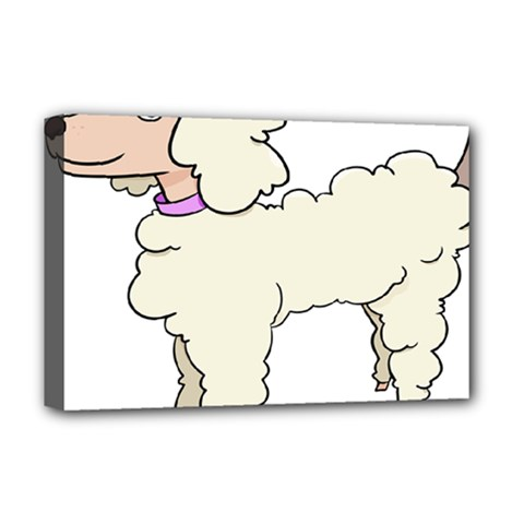 Poodle Dog Breed Cute Adorable Deluxe Canvas 18  X 12