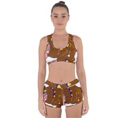 Bulldog Cartoon Angry Dog Racerback Boyleg Bikini Set