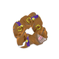 Bulldog Cartoon Angry Dog Velvet Scrunchie