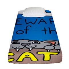 Cat Print Paw Pet Animal Claws Fitted Sheet (single Size)