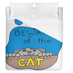 Cat Print Paw Pet Animal Claws Duvet Cover (queen Size)