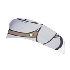 Gray Happy Dog Bulldog Pet Collar Stretchable Headband