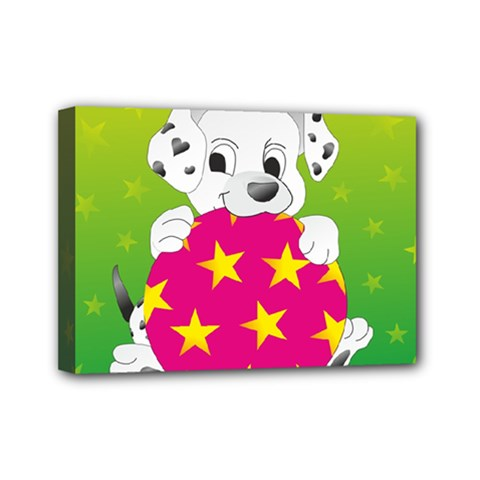 Dalmatians Dog Puppy Animal Pet Mini Canvas 7  X 5