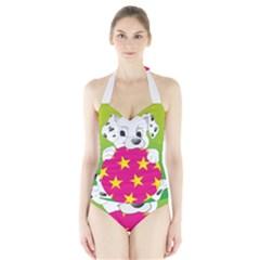 Dalmatians Dog Puppy Animal Pet Halter Swimsuit