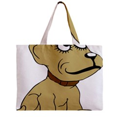 Dog Cute Sitting Puppy Pet Zipper Mini Tote Bag