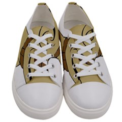 Dog Cute Sitting Puppy Pet Women s Low Top Canvas Sneakers