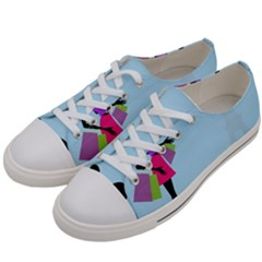 Woman Girl Lady Female Young Women s Low Top Canvas Sneakers by Nexatart