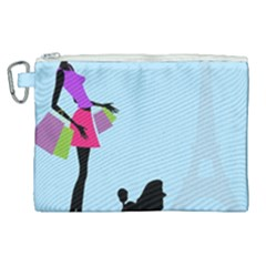 Woman Girl Lady Female Young Canvas Cosmetic Bag (xl) by Nexatart