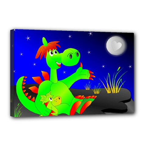 Dragon Grisu Mythical Creatures Canvas 18  X 12